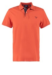 Gant Polo Shirt Burned Ocher Orange