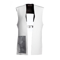 Delada Leather Cropped Reversible Vest White