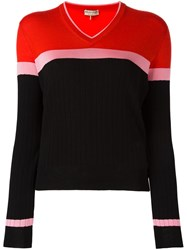 Emilio Pucci Colour Block Jumper Black