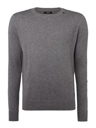 Replay Wool And Cotton Blend Jumper Grey