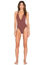 Solid And Striped The Alexandra One Piece Brown