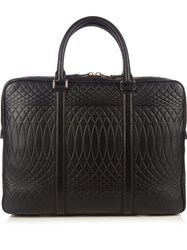 Paul Smith Number 9 Leather Briefcase Black