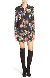 Whitney Eve 'Sahara' Shirtdress Black Garden