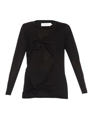 Marques Almeida Slashed Knotted Long Sleeved Top