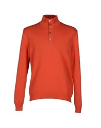 Ballantyne Knitwear Turtlenecks Men Rust