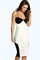 Boohoo Strappy Midi Bodycon Dress Mint