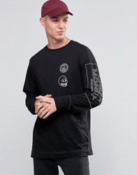 Cheap Monday Yard Long Sleeve Top Skull Logo Black Black