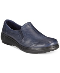 Easy Street Shoes Easy Street Ultimate Comfort Slip On Flats Women's Shoes Navy