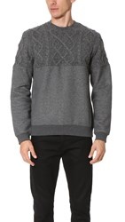 Opening Ceremony Cable Knit Sweatshirt Charcoal