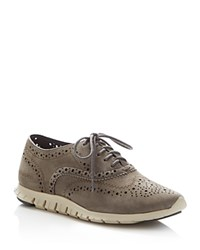 Cole Haan Zerogrand Lace Up Wingtip Oxfords Gray