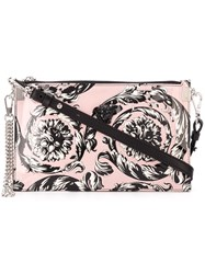 Versace 'Palazzo Medusa' Clutch Pink And Purple