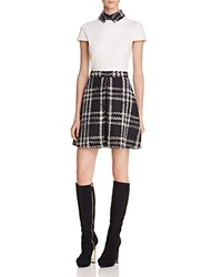 Alice Olivia Gail Box Pleat Dress Black White