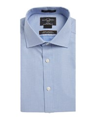 Black Brown Non Iron Fitted Pinchecked Dress Shirt Blue