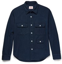 Battenwear Camp Cotton Flannel Shirt Navy