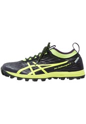Asics Gelfuji Runnegade 2 Plasmaguard Trail Running Shoes Black Safety Yellow Infinity Purple