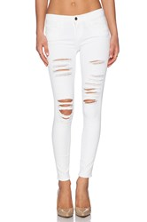 Frame Denim Le Colored Ripped Blanc