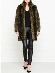 Paul Smith Ps By Faux Fur Coat Green