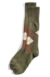 Men's Polo Ralph Lauren Argyle Socks Green Moss Heather