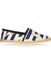 Mother Of Pearl Lagan Banana Print Canvas Espadrilles Blue