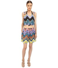 M Missoni Circus Two Piece Cover Up Black Women's Swimwear Sets