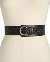 Inc International Concepts Asymmetrical Woven Stretch Belt Only At Macy's Black