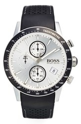 Boss 'Rafale' Chronograph Leather Strap Watch 44Mm