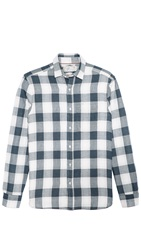 Shipley And Halmos Marine Metro Plaid Sport Shirt Grey Metro