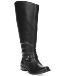 Easy Street Shoes Quinn Plus Wide Calf Riding Boots Women's Black