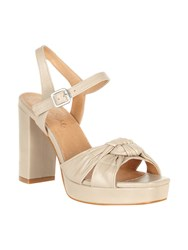 Phase Eight Jennie Leather Platform Sandals Neutral