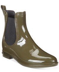 Inc International Concepts Women's Rubiee Chelsea Rain Booties Only At Macy's Women's Shoes Olive