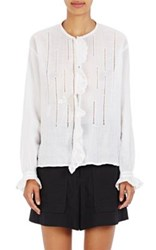 Isabel Marant Women's Amos Cutwork Embroidered Blouse White