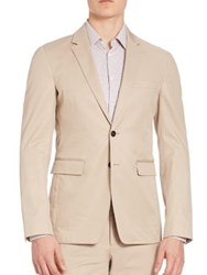 Burberry Notched Two Button Blazer Cream
