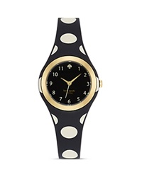 Kate Spade New York Black And White Polka Dot Rumsey Watch 30Mm Black White