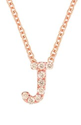 Bony Levy Women's Pave Diamond Initial Pendant Necklace Nordstrom Exclusive Rose Gold J