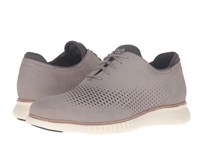 Cole Haan 2.0 Grand Laser Wing Oxford Ironstone Nubuck Ivory Men's Lace Up Casual Shoes Gray