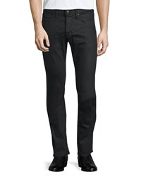 John Varvatos Five Pocket Stretch Cotton Jeans Jet Black Women's