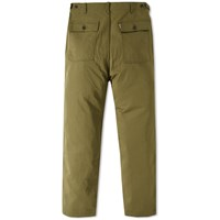 Maison Kitsune Linen Worker Pant Brown