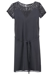 Vila Virenta Summer Dress Ebony Dark Grey