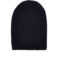 Barneys New York Women's English Rib Knit Beanie Navy