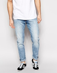 Lee Jeans Luke Skinny Fit Spring Cloud Acid Wash Springcloud