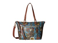 Sakroots Artist Circle City Satchel Lagoon Spirit Desert Satchel Handbags Blue