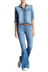 Current Elliott The High Rise Low Bell Bottom Jean Blue