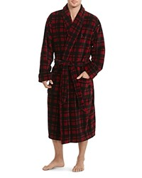 Polo Ralph Lauren Plaid Microfiber Robe Red Buffalo Plaid