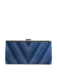 Jessica Mcclintock Laura Frame Clutch Navy Blue