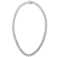 Jools By Jenny Brown Jenny Brown 2 Row Cubic Zirconia Tennis Necklace