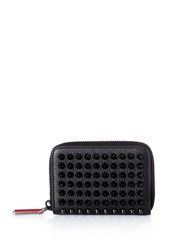 Christian Louboutin Panettone Zip Around Leather Coin Wallet Black Multi