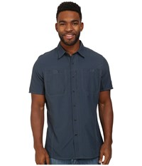 Kuhl Wunderer Ss Pirate Blue Men's Short Sleeve Button Up