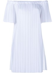 Adam By Adam Lippes Adam Lippes Pleated Off Shoulder Poplin Tunic White