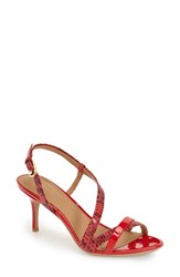 Women's Calvin Klein 'Lorren' Leather Sandal Lipstick Red