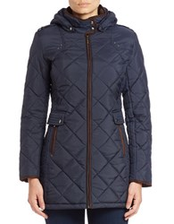 Weatherproof Quilted Faux Fur Lined Coat Dark Blue